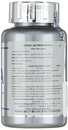 Scitec Complejo de Ácido Alfa Lipoico - 50 gr: Amazon.es: Salud y cuidado personal