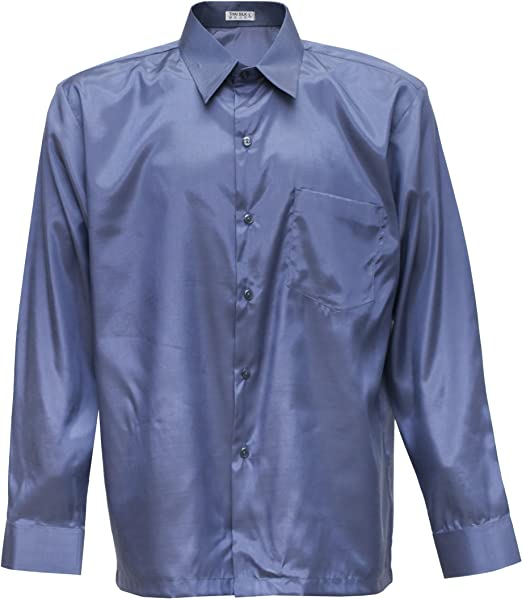 Hombres camisa de manga larga de seda tailandesa gris, gris, xxx-large: Amazon.es: Hogar