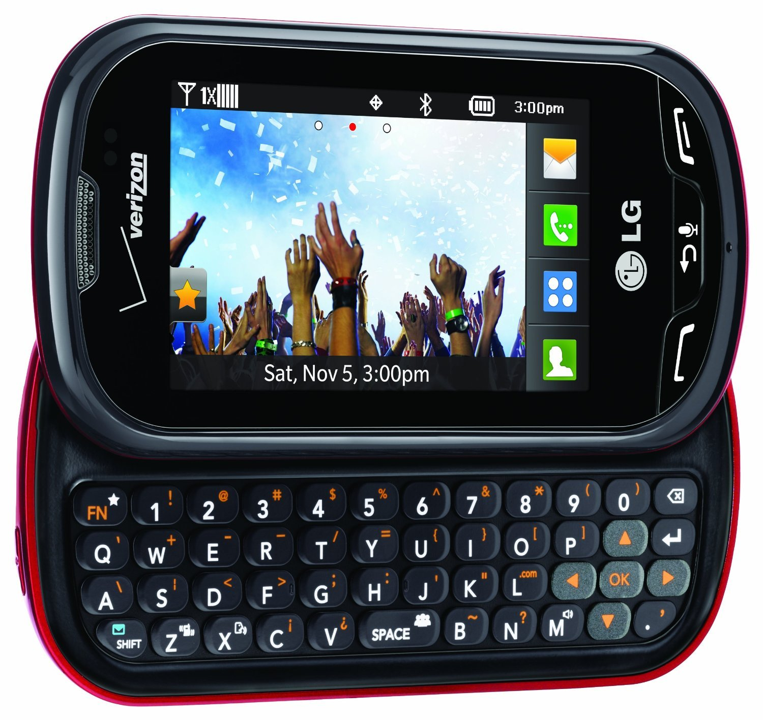 Amazon.com: Verizon LG Extravert No Contract QWERTY 2MP Camera Touchscreen  Cell Phone - Red/Black - For Verizon Postpaid Plans: Cell Phones &  Accessories