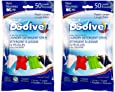 DSolve New Ultra Concentrated Laundry Detergent Strips, The Future of Laundry - Fresh Linen Scent, 50 Loads – More Convenient than Pods, Pacs, Liquids or Powders – Great for Home, Dorm, Travel, Camping & Hand-Washing. (2 Pack)
