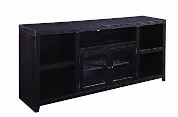 Dark Wood Tv Credenza : Amazon scott living tv console with glass doors dark
