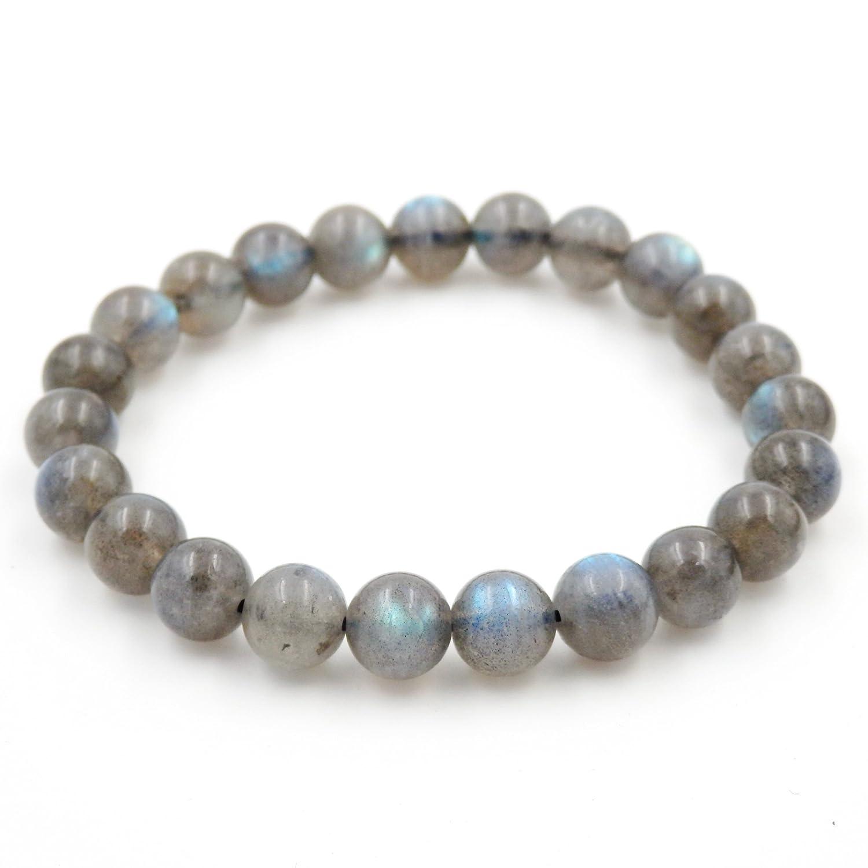 Precious Gemstone Healing Balance Stretch Bracelets 100% Natural AAA Grade (Labradorite 8mm)