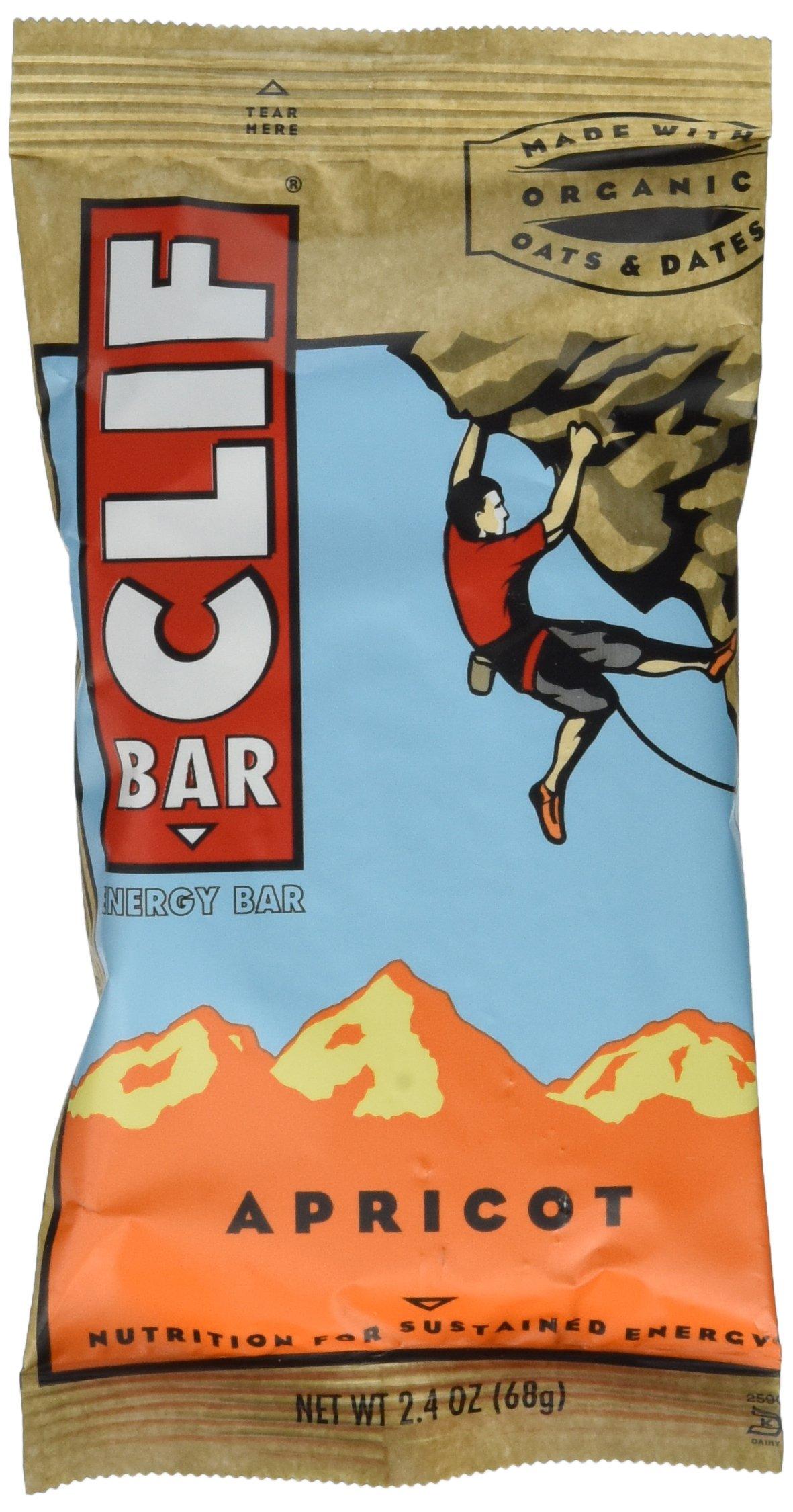 Clif Bar Energy Bar, Apricot, 2.4-Ounce Bars, 12 Count by Clif Bar