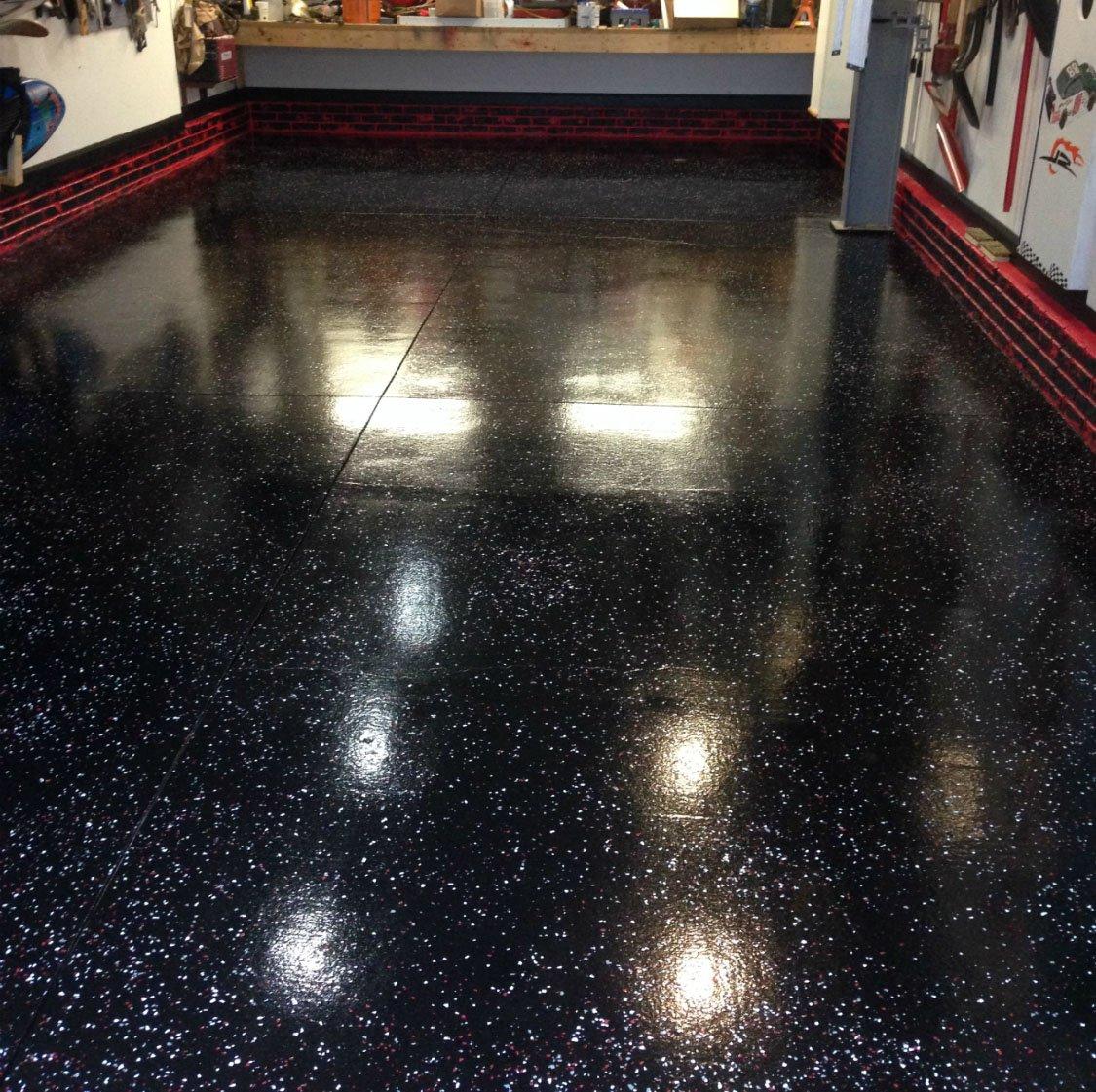 Armor Chip Garage Epoxy Flooring Kit 2200 Square Feet