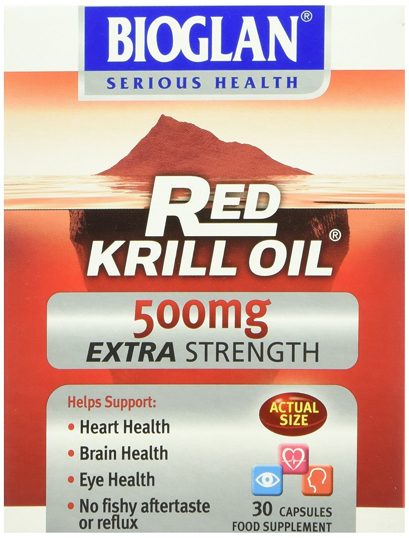 (12 PACK) - Bioglan Red Krill Oil 500Mg Extra Strength | 30s | 12 PACK - SUPER SAVER - SAVE MONEY