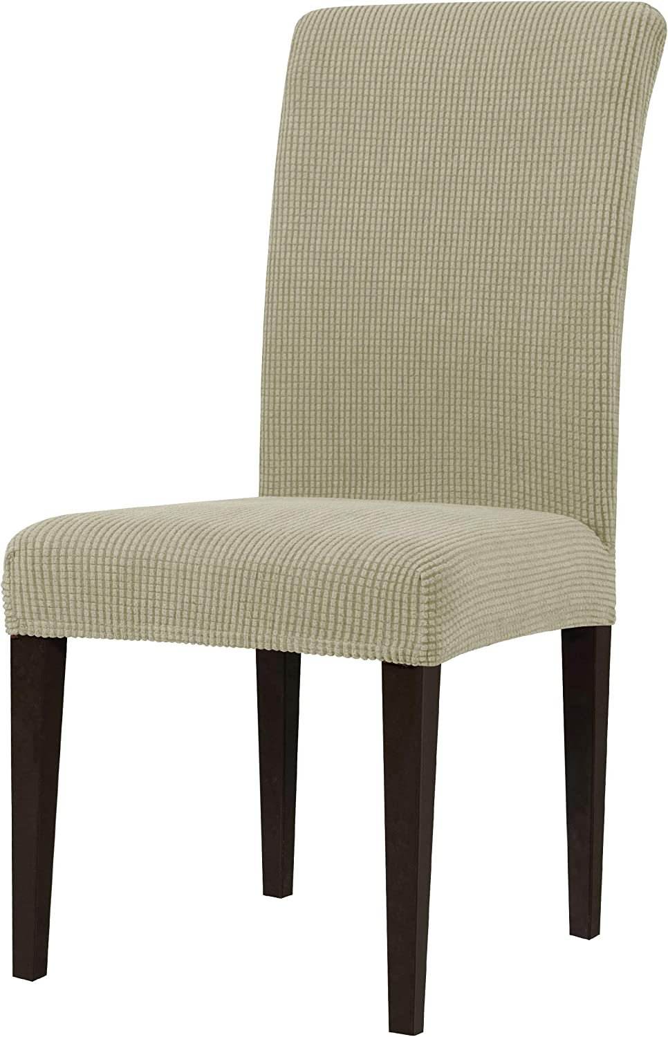 Machine Washable Anti-Slip Parson Chair Protector for Party Set of 2, Coffee subrtex Stretch Dining Chair Covers Elastic High Back Dining Room Chair Cover
