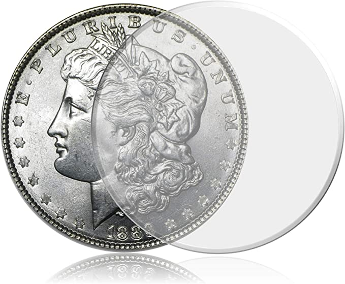 Silver Rounds ~35 Direct Fit 32mm Coin Capsule For US 1//2 oz