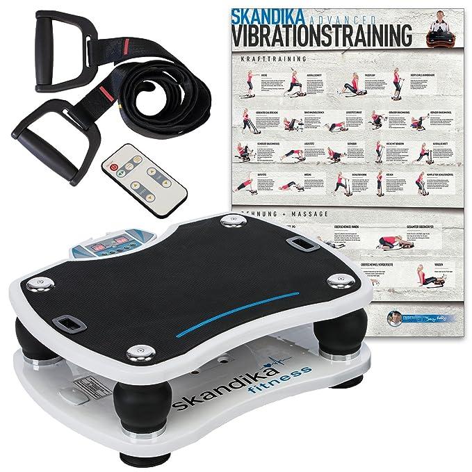 skandika Home 500 Plataforma vibratoria, uso doméstico, max.120 kg, mando distancia, 4 programas (blanca): Amazon.es: Deportes y aire libre