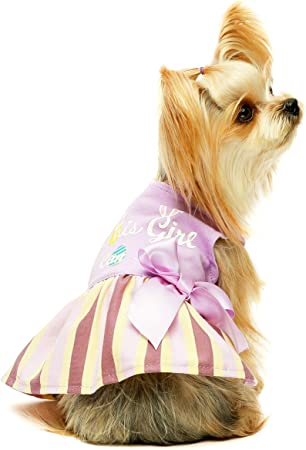 Fitwarm Halloween Dog Dresses Puppy Party Costumes Doggie Shirts Cat Outfits Orange