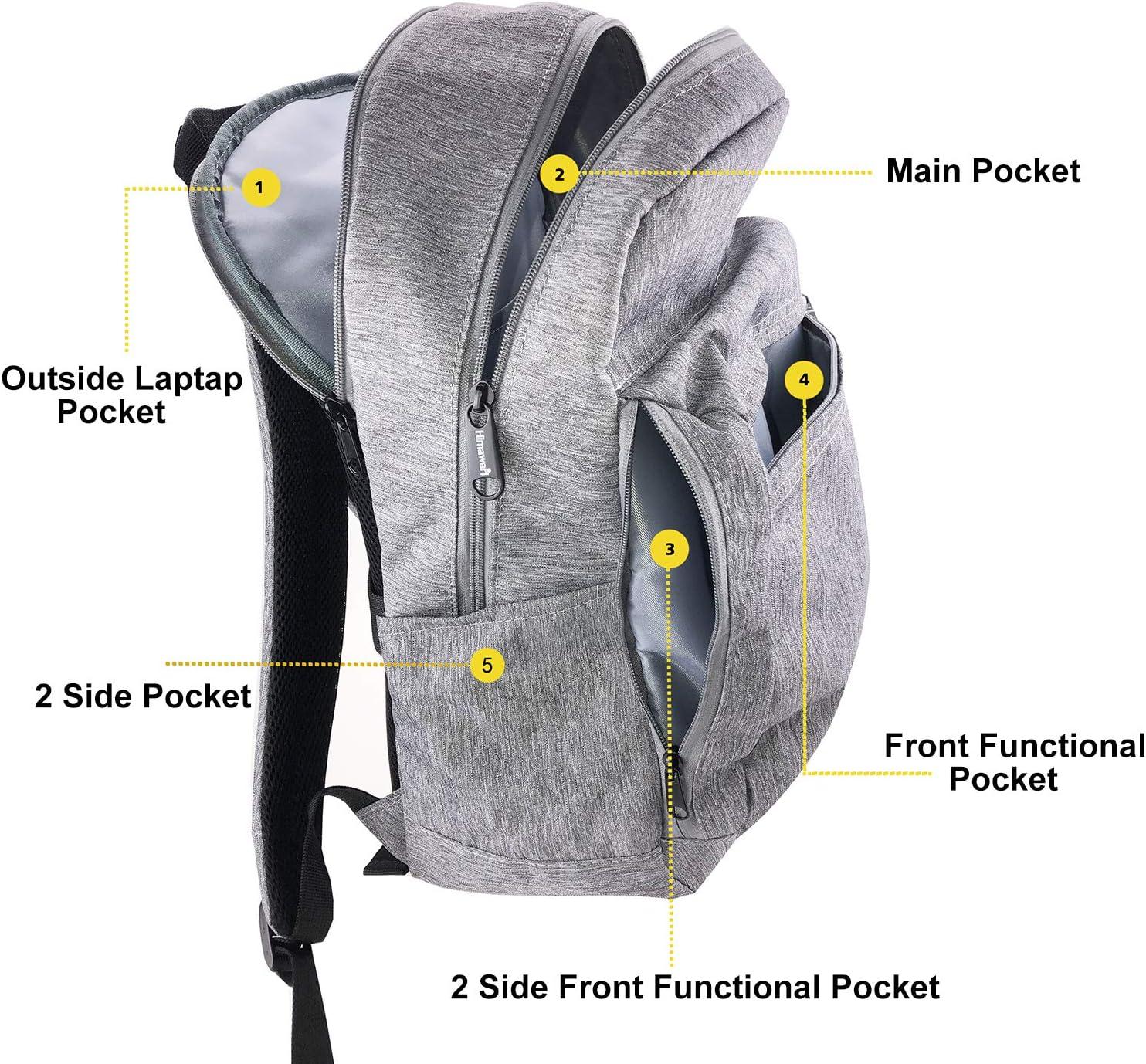 Hethrone Womens Mens Waterproof Laptop Backpack Fits 15.6 Inch Wide Open Lightweight Casual Daypack Anti Theft Work Rucksack School Backpack Bag Black