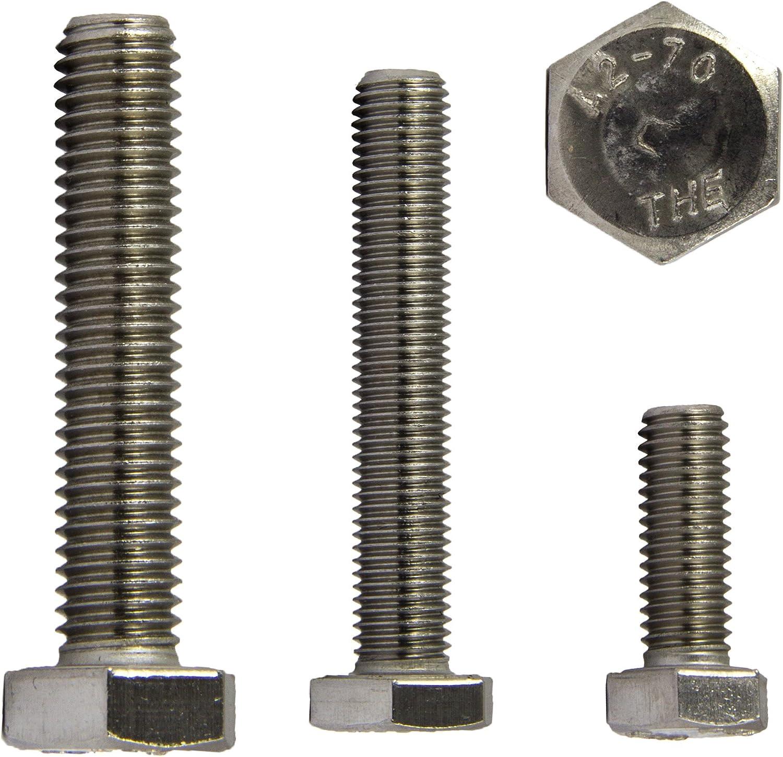 10 St/ück Sechskantschrauben DIN 933 V2A VA Edelstahl M4 x 10 Gewindeschrauben Schrauben