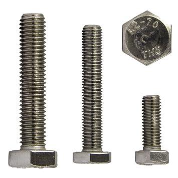 Gewindeschrauben Sechskantschrauben M10 X 80 DIN 933 Edelstahl A2 OPIOL QUALITY | Maschinenschraube Au/ßensechskant 10 St/ück Sechskant Schrauben