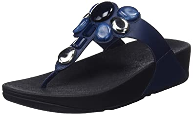 FitFlop Damen Honeybee Toe-Thong Zehentrenner, Blau (Midnight Navy 399), 36 EU