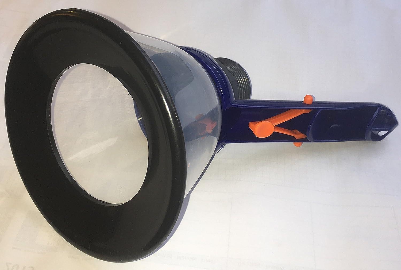BoFiTec Mulmsauger Saugglocke Saugtrichter Schlammsauger Teichreiniger transparent mit Gewindeanschluss 1,5