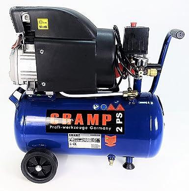 Cramp Druckluft Kompressor 1500w 2 Ps Max 8 Bar 24 Liter Tank Mobil Rollbar Gewerbe Industrie Wissenschaft