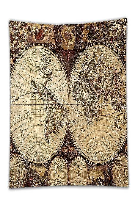 interestlee satinado (mantel? Mapa Wanderlust Decor imagen de ...