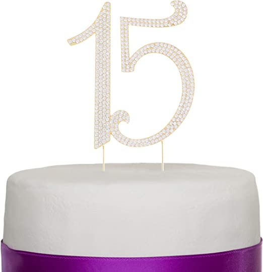 Amazon.com: Ella Celebration - Decoración para tarta de 15 ...