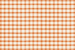 product image for Hester & Cook Orange Painted Check Paper Placemat, 24 Sheets