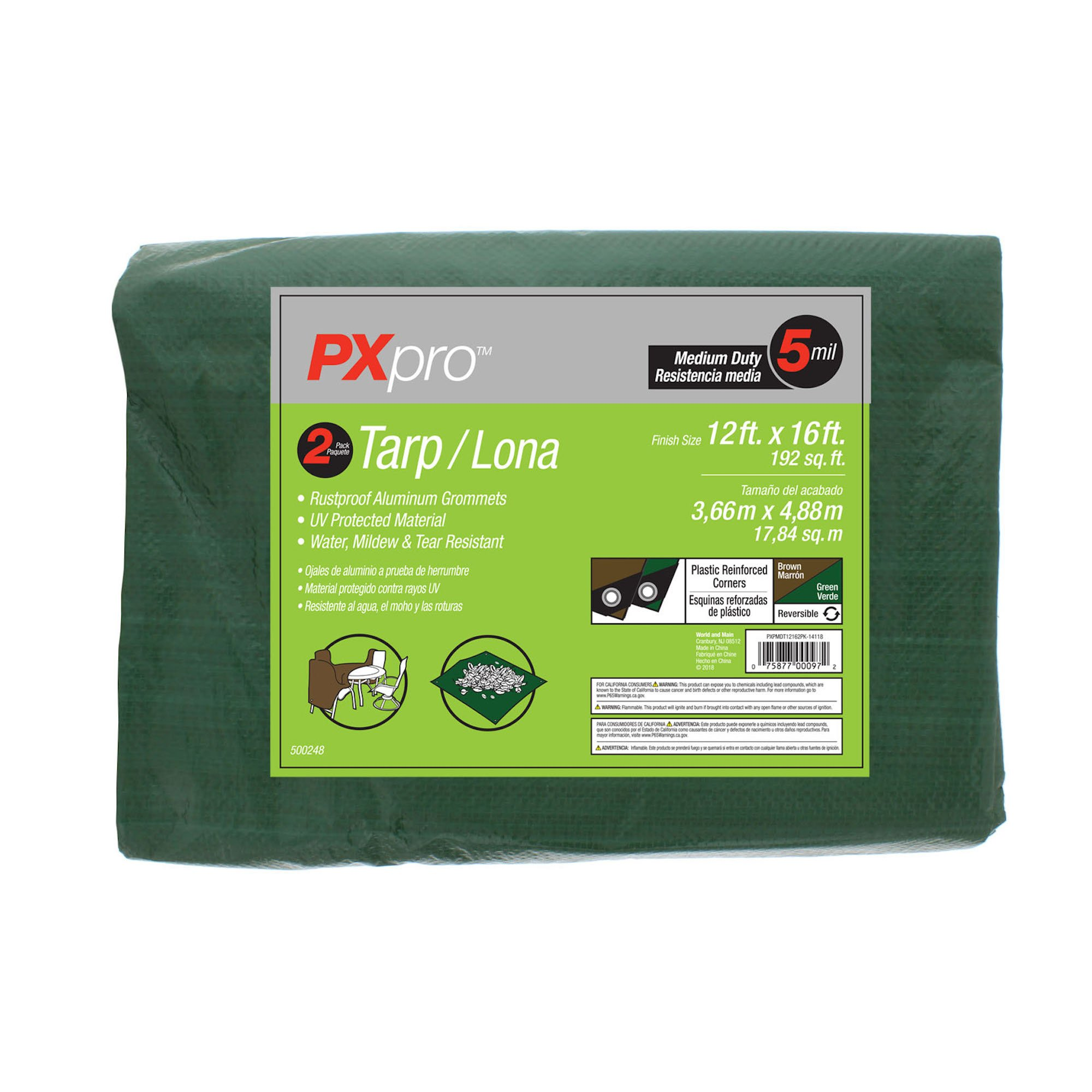 PXpro Medium Duty Tarp 12'X16' by PXpro
