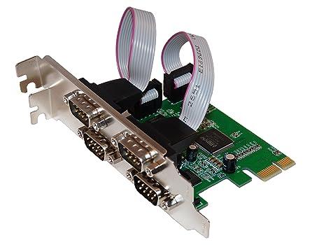 Tarjeta Controladora PCI Express (PCIe) X1 serie RS232 4 ...