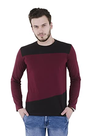 6be0bd86f RSO Outfits Maroon Extra large Cotton Full Sleeve Men Round Neck T-shirt