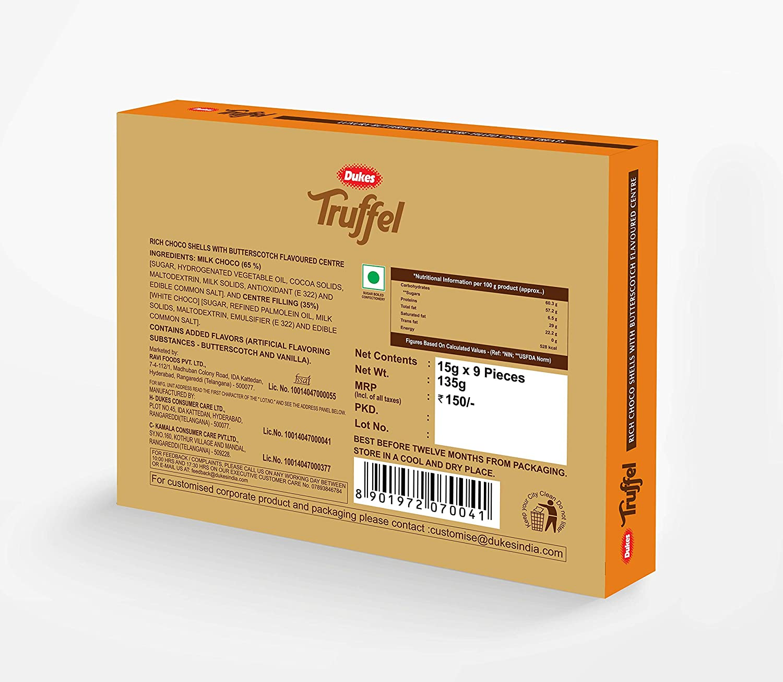 Dukes Truffel (Butter Scotch), 135 g