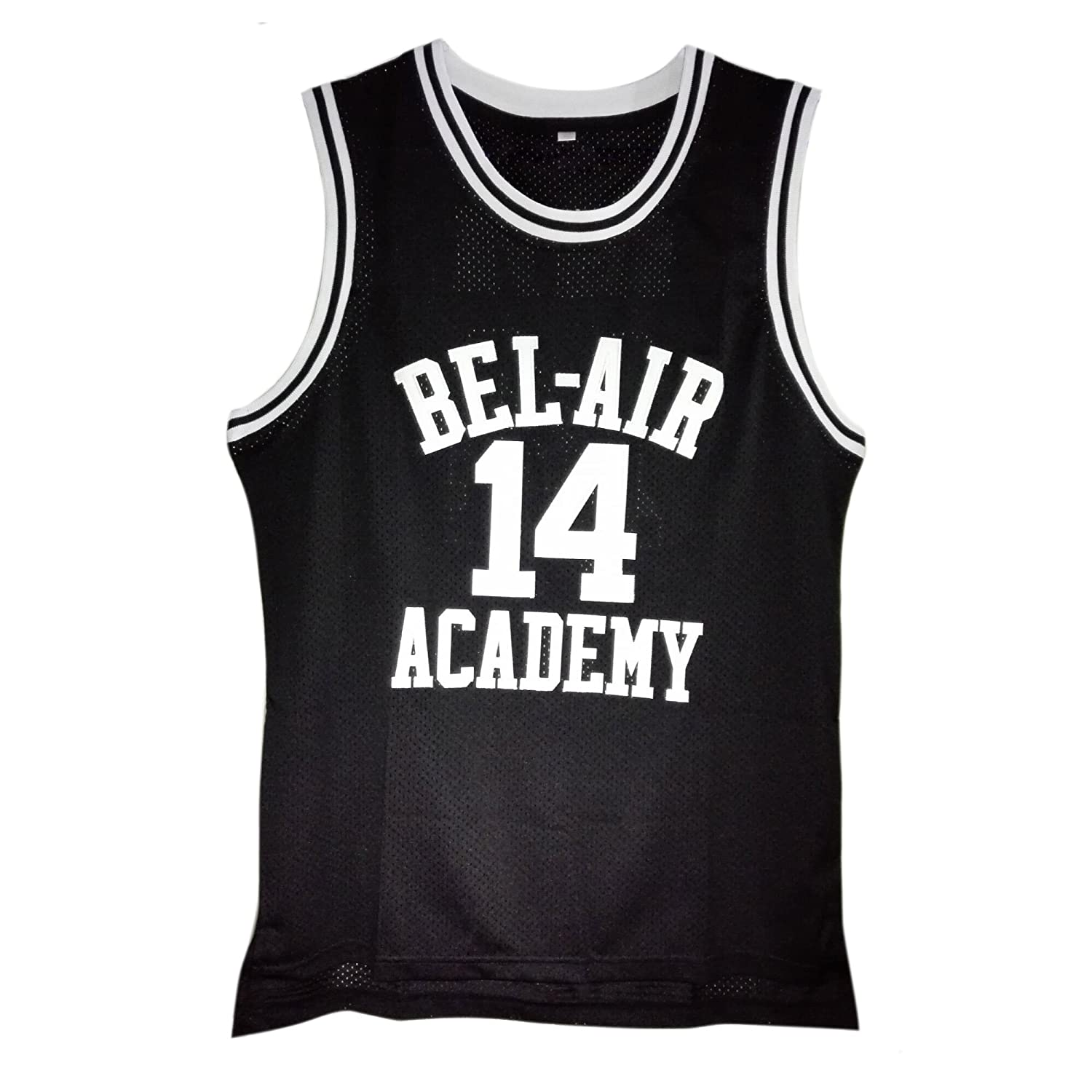 4545ff372247 Amazon.com  MOLPE Smith  14 Bel Air Academy Black Basketball Jersey S-XXXL   Clothing
