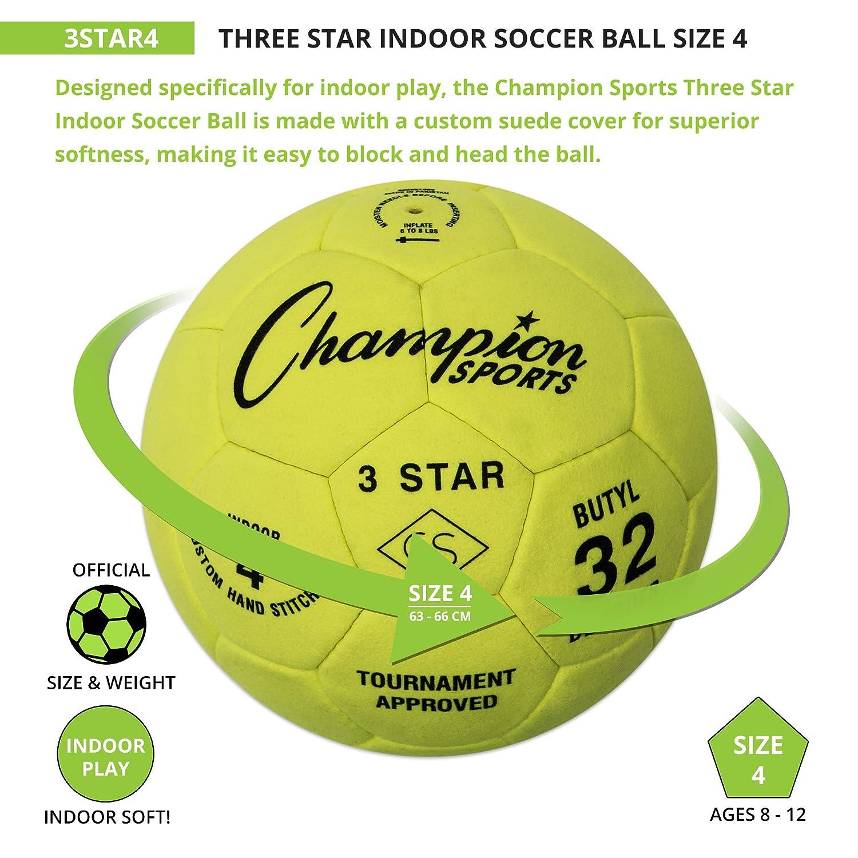 CHAMPION SPORTS 3 Star - Balón de fútbol: Amazon.es: Deportes y ...