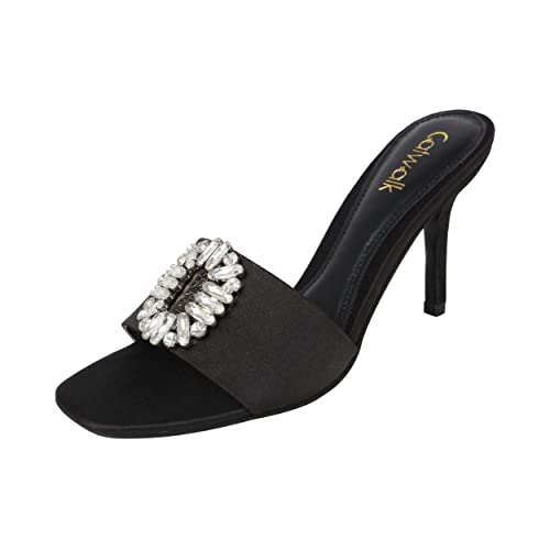 acb30562b Catwalk Black Slip-On Heel Sandals  Buy Online at Low Prices in India -  Amazon.in