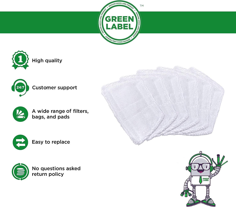 Green Label Confezione da 6 alternativa a 35850 non per i pavimenti. Minipanni in microfibra per i pulitori a vapore Morphy Richards questi sono panni mini Si prega di notare