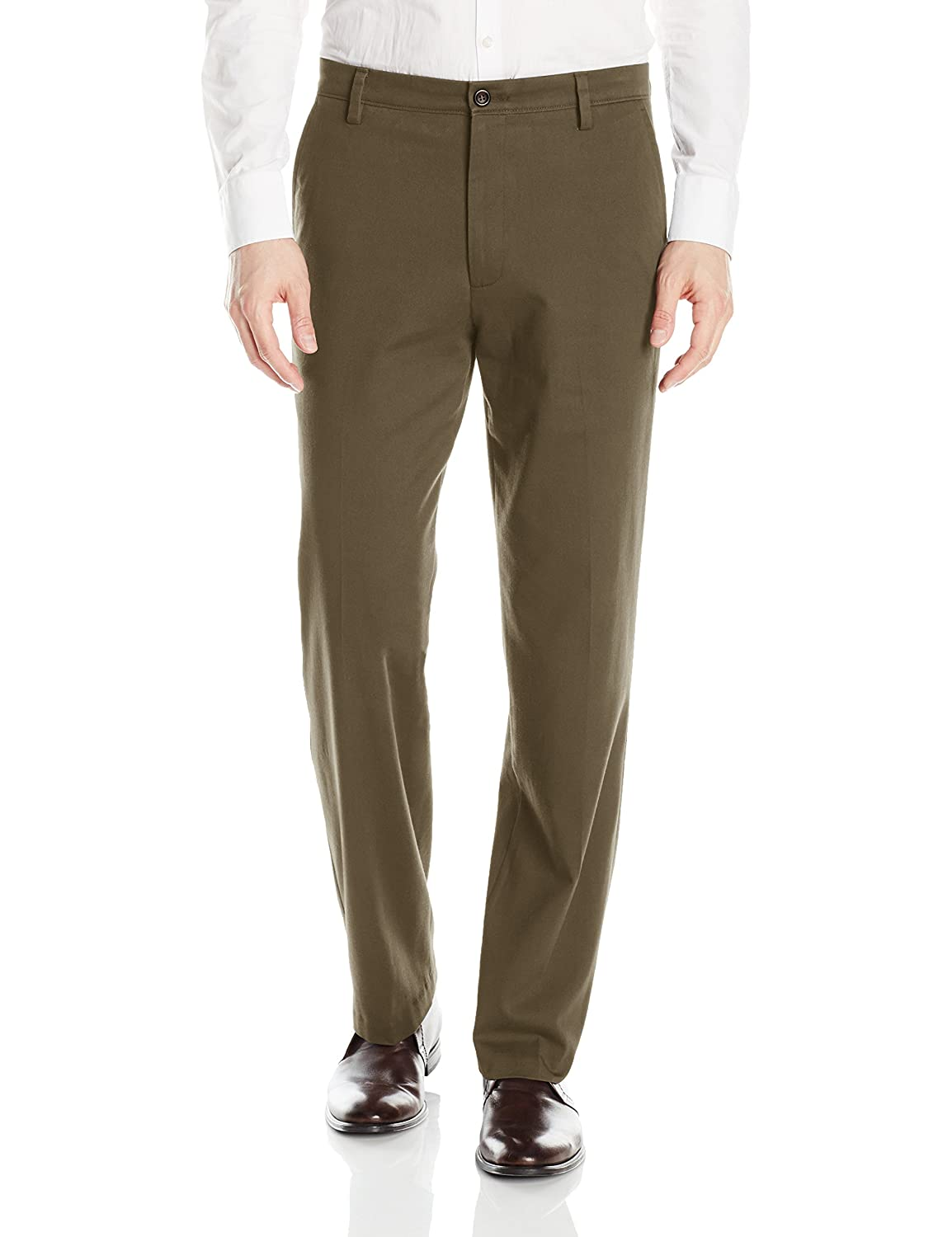 Dockers Mens Easy Khaki Stretch D3 Classic-Fit Flat-Front Pant