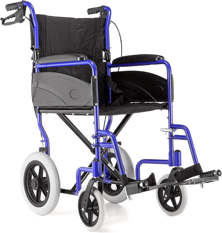 Silla de ruedas Dash Express, ultraliviana, plegable, para ser empujada por un cuidador, mangos de empuje altos
