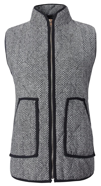 Merokeety Women's Slim Fall Quilted Herringbone Puffer Vest with ...