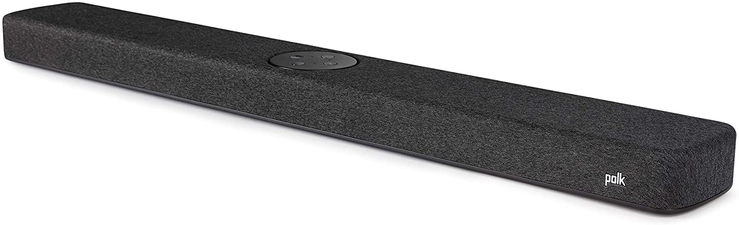Polk Audio React Sound Bar, Dolby & DTS Virtual Surround Sound, Next Gen Alexa Voice Engine with Calling and Messaging Built-in — A Certified for Humans Device