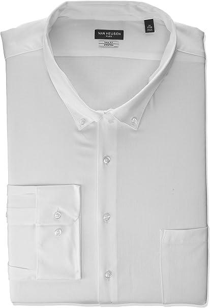 Van Heusen Mens Dress Shirt Slim Fit Flex Collar Stretch Solid Dress Shirt
