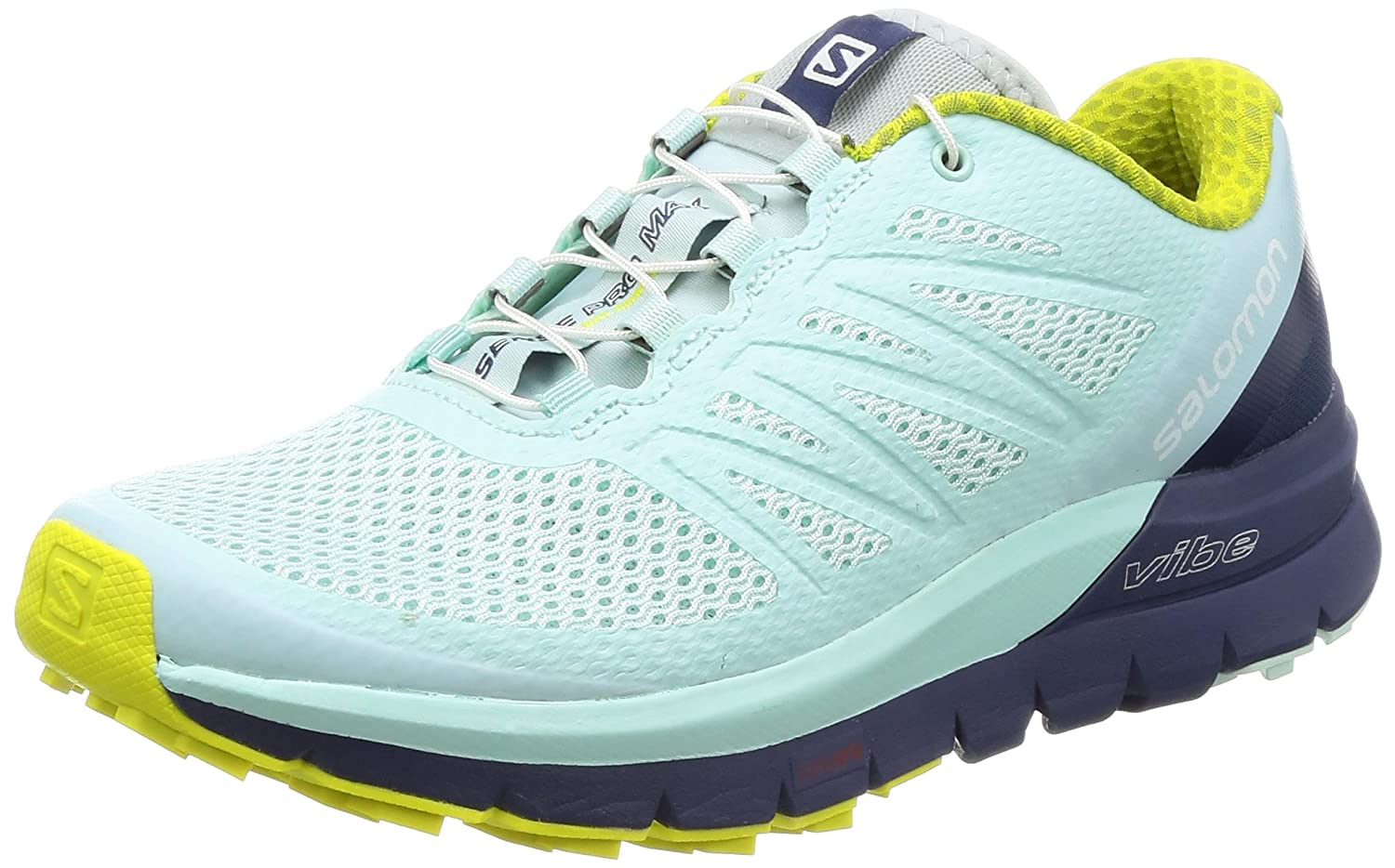 Salomon Women's Sense Pro Max Manmade, Mesh Trail Running Sneakers B01HD1UTQI 9.5 B(M) US|Fair Aqua, Crown Blue, Sulphur Spring
