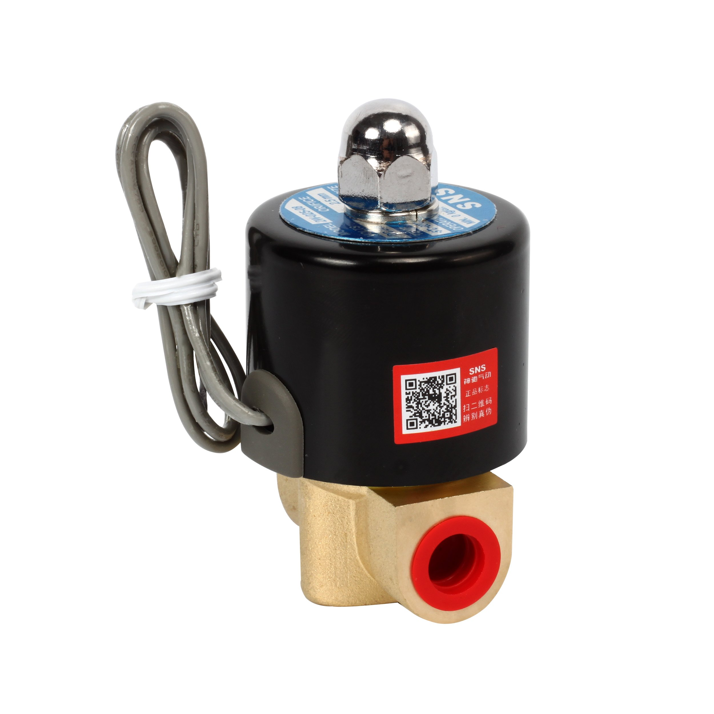 SNS 2W025-08 1/4'' DC12V NPT Brass Electric Solenoid Valve Normally Closed Water, Air, Diesel by SNS (Image #4)