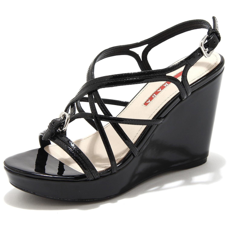 Prada B3894 Sandalo Donna Sport Scarpa Zeppa Beige Scuro Sandal Shoe Woman [40] q06v6bF4X