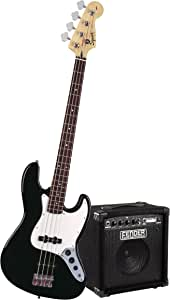 Squier by Fender Stop Dreaming-Start Playing Set: Affinity J Bass w/Rumble 15 Amp, Black