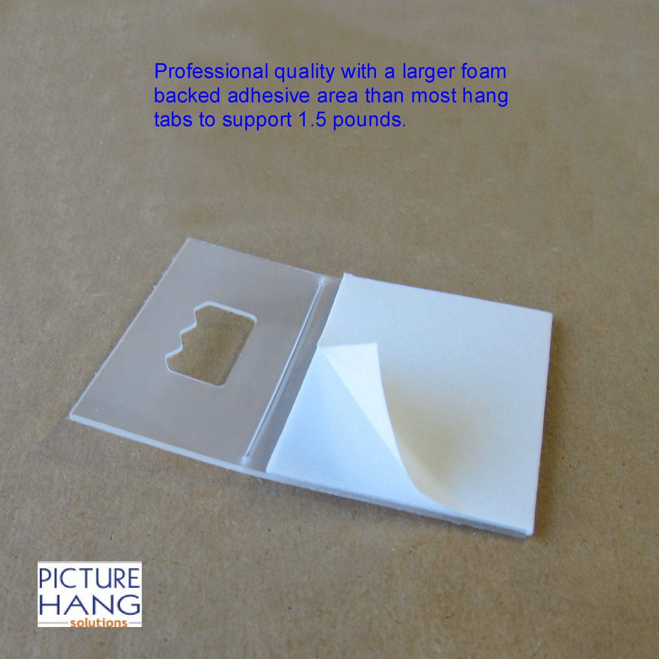 Picture Hangers Adhesive - Plastic Sawtooth Adhesive Picture Hangers - Foamboard Hanger - 100 Pack by Picture Hang Solutions (Image #4)