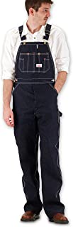 product image for Round House Mens Classic Blues Denim - Button Fly - Overalls - Made in USA (Denim 64W x 34L)