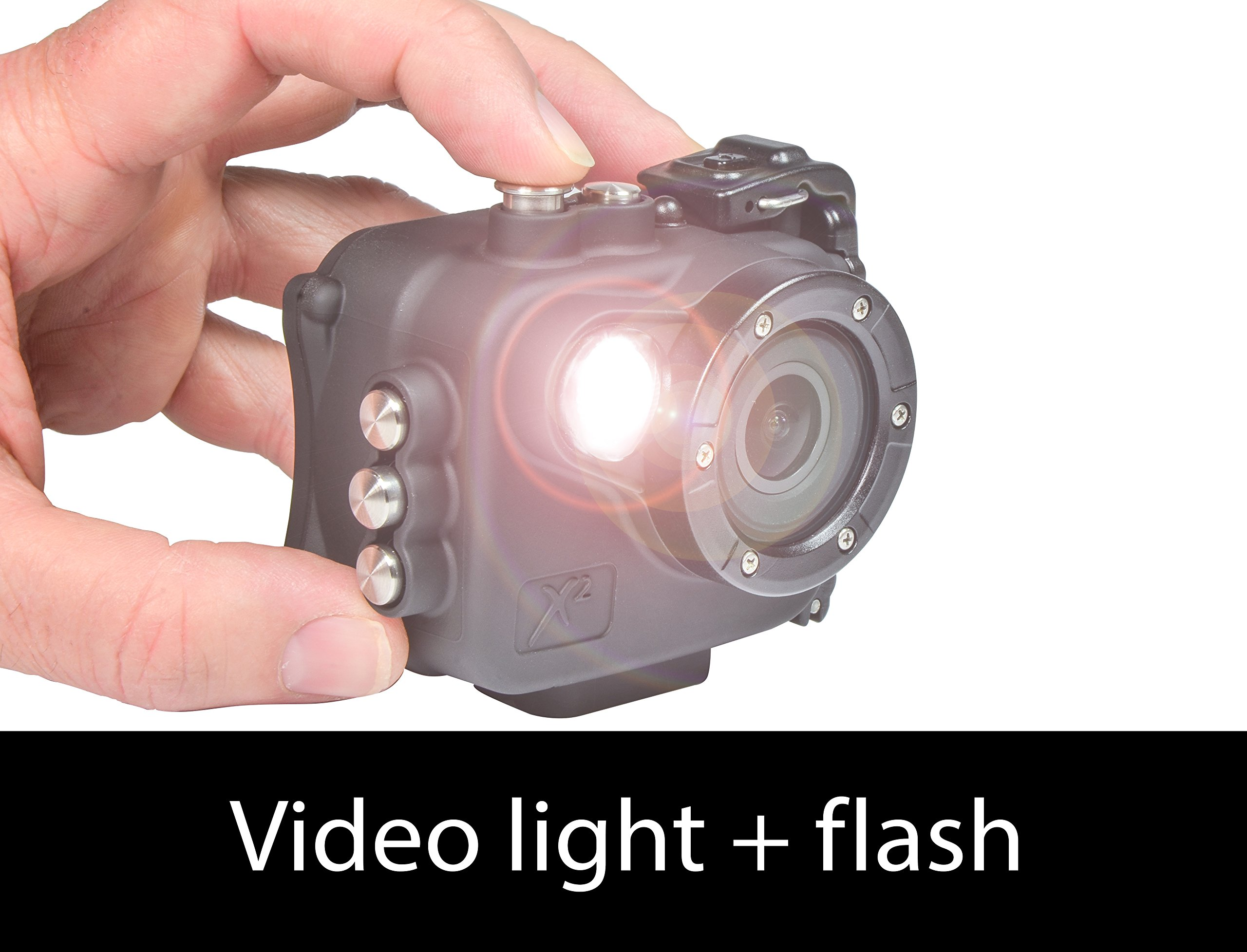Intova X2 Waterproof 16MP Action Camera with Built-in 150-Lumen Light and WiFi by Intova (Image #4)
