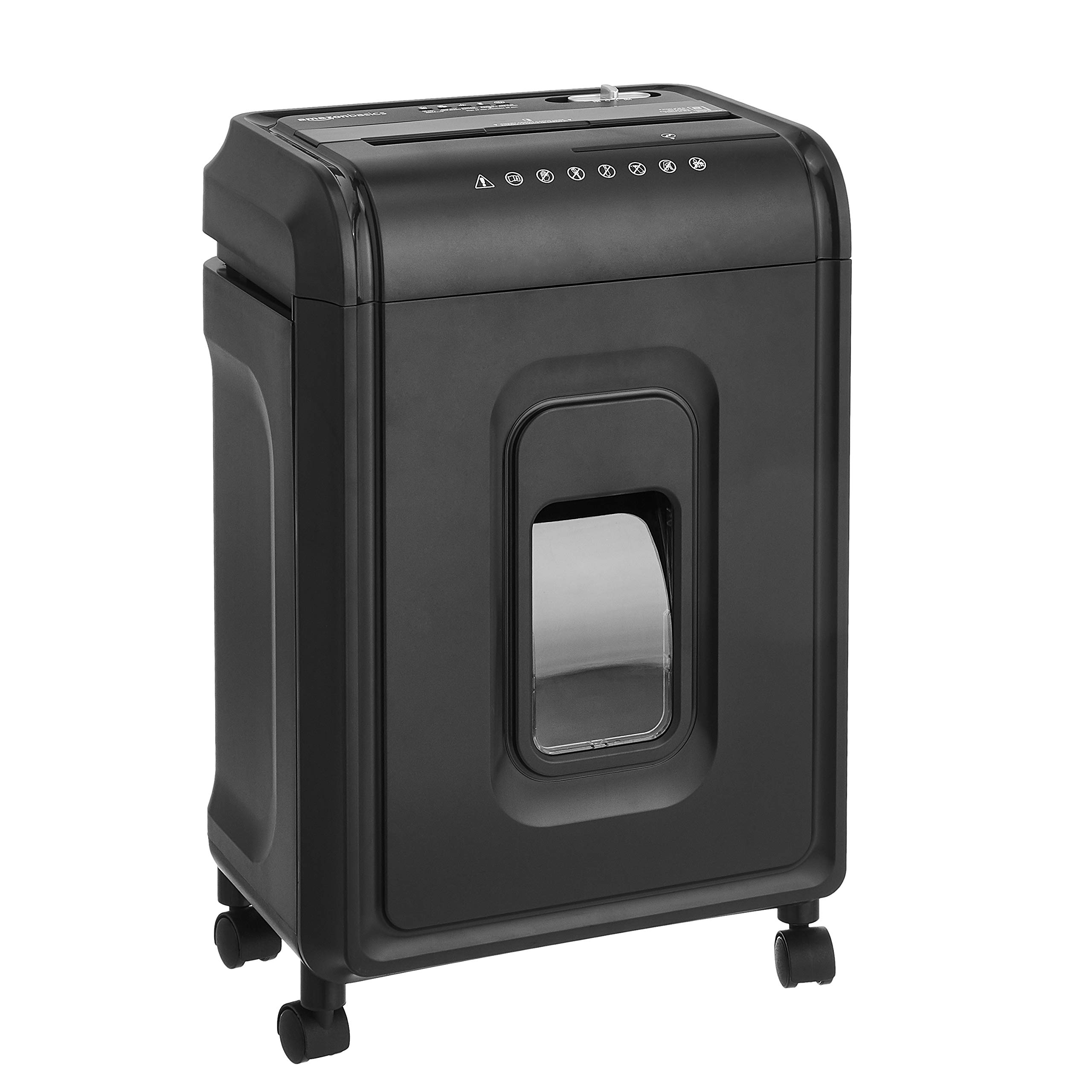 AmazonBasics 8-Sheet High-Security Micro-Cut Paper, CD, and Credit Card Shredder with Pullout Basket by AmazonBasics