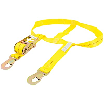 """Keeper 04511 6.50' x 2"""" Over the Wheel Tie-Down with Flat Snap Hooks - 2000 lbs Working Load Limit: Automotive"""