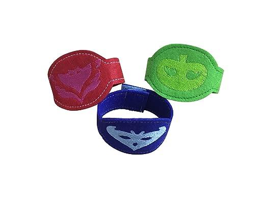 PJ juego de juguete para niños Pulsera Diseño De Máscara De 3 Catboy Owlette Gekko con