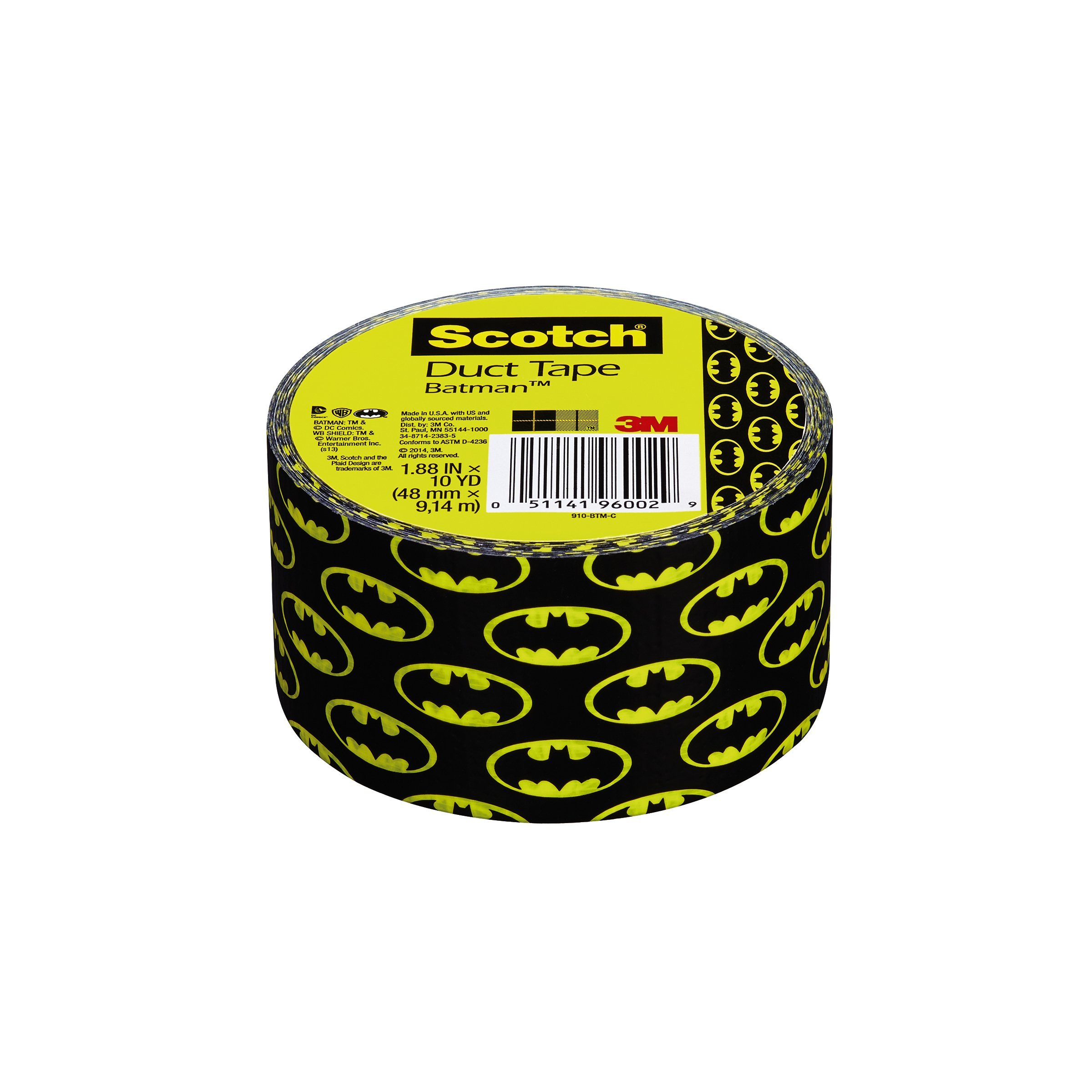 Scotch Duct Tape, Batman, 1.88-Inch by 10-Yard