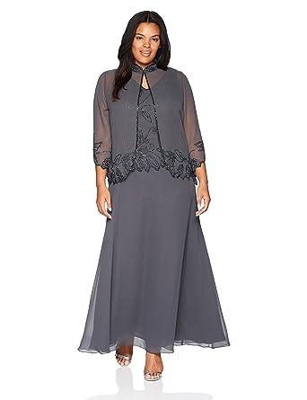 63ca131288e6b J Kara Women s Size Beaded Jacket Dress Plus at Amazon Women s ...