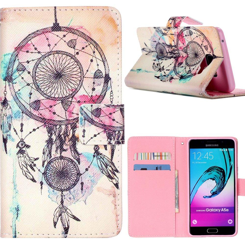 Dooki, Galaxy A5 2016 Coque, Portemonnaie Flip PU Cuir Housse Coque É tui Etui pour Samsung Galaxy A5 2016 Avec Carte Tenant Fente Supporter (A-6)
