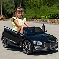 Best Choice Products 12V Kids Officially Licensed Bentley EXP 12 Ride On Car with Remote Control, Foot Pedal, 2 Speeds, Headlights (Black)