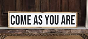 EricauBird Wall Art Come As You are | Wood Sign | Flowers | Farmhouse | Home Decor | Entryway | Welcome Wood Plaque, Custom Gift